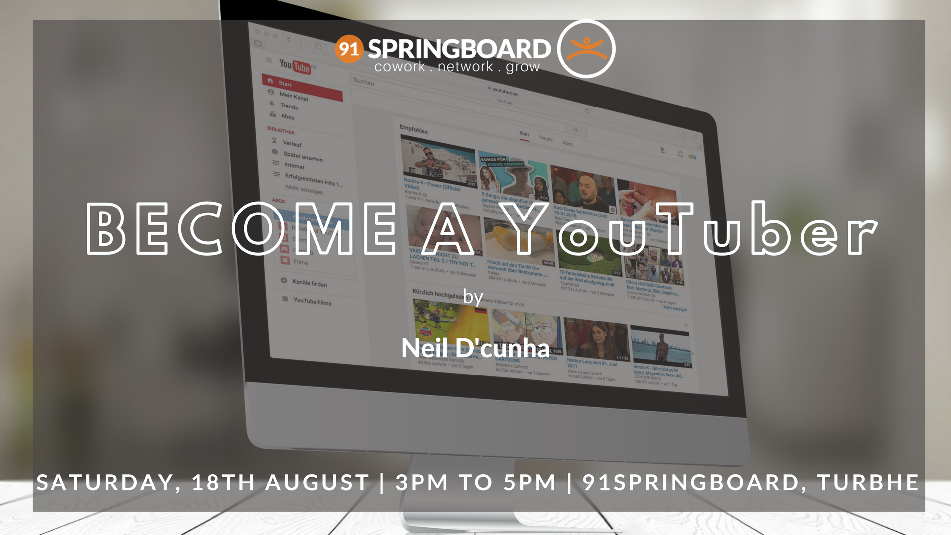 Become A YouTuber at 91springboard, Turbhe, Navi Mumbai